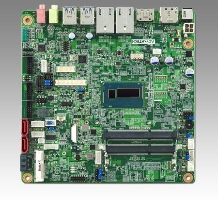 AIMB-230G2-U3A1E Carte mère industrielle, DC miniITX Haswell-ULT i3-4010U, eDP/DP/DP++