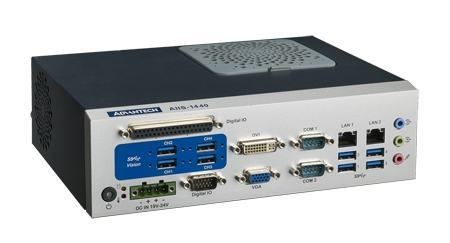 AIIS-1440-00A1E PC industriel pour application de vision, USB3.0 CAM BOX, H61, 2 LAN, 4+4 USB3, 6 COM