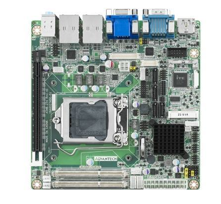 AIMB-274G2-00A1E Carte mère industrielle, miniITX LGA1150 VGA/LVDS/DP/HDMI/PCIe/2GbE,RoHS