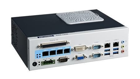 AIIS-1240-00A1E PC industriel pour application de vision, H61, 4 PoE, 2 LAN, 4 USB3.0, 6 COM, 8-bit DIO