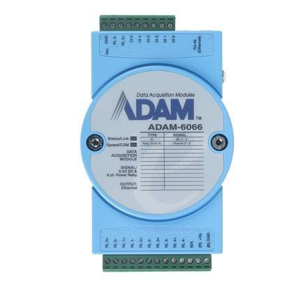 ADAM-6066-CE Module ADAM Entrée/Sortie sur Ethernet Modbus TCP, 6 DO/6 DI Power Relay Module
