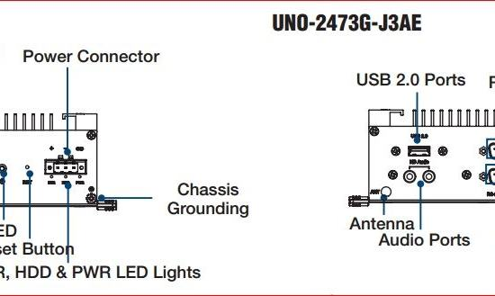 UNO-2473G-W10-IOT PC fanless processeur Atom Windows 10 IoT 500Go