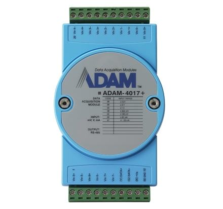 ADAM-4017+-CE Module ADAM sur port série RS485, 8-Ch AI Module w/ Modbus