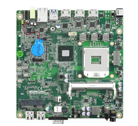 AIMB-201VG-DSA1E Carte mère industrielle, DC 19V miniITX PGA HDMI/mPCIe/Cfast/GbE, RoHS