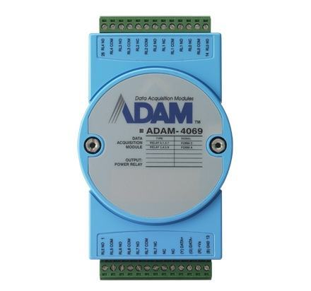 ADAM-4069-AE Module ADAM sur port série RS485, 8-Ch Power Relay Output Module w/ Modbus