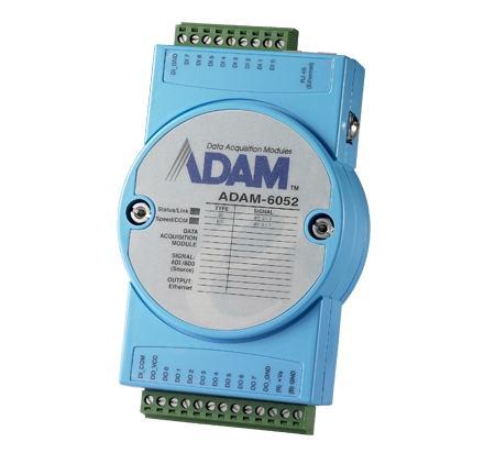 ADAM-6052-CE Module ADAM 6052 - Entrée/Sortie sur Ethernet Modbus TCP, 16-Ch Source Type DI/O Module