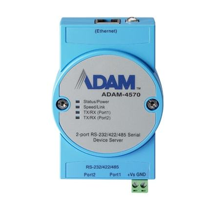 ADAM-4570-CE Passerelle série ADAM, 2-port RS-232/422/485 Serial Device Server