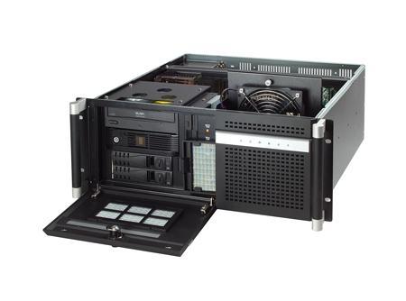 """ACP-4320MB-50BE Châssis silencieux 4U 500W pour PC rack 19"""" avec carte mère ATX/MATX et 2 disques extractibles"""