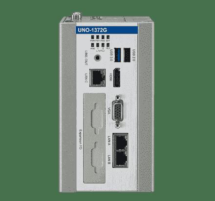 UNO-1372G-E3AE PC industriel fanless à processeur Atom QC 1.91GHz, 4GB DDR, iDoor, 3Ethernet, 2COM