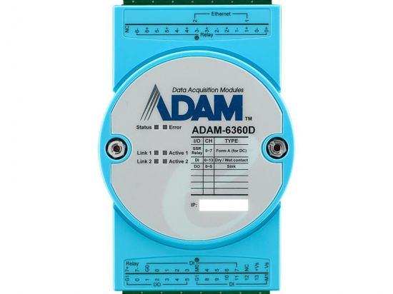 ADAM-6360D-A1 Module ADAM Ethernet OPC-UA / Modbus/TCP avec 8 relais, 14 entrées digitales et 6 sorties digitales