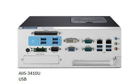AIIS-3410P-00A1E PC industriel pour application de vision, H110, DDR4, 4 PoE, 2 LAN, 4 USB3.0, PCIe/PCI ext