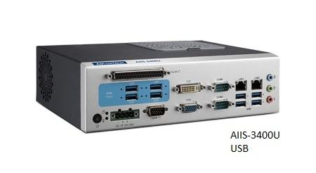 AIIS-3400U-00A1E PC industriel pour application de vision, H110, DDR4, 4+4 USB3.0, 2 LAN, 2 COM, 8 bits DIO