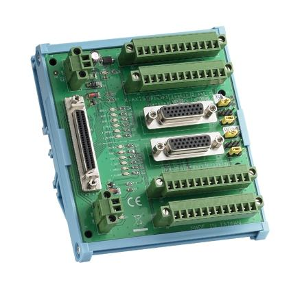 ADAM-3955-AE Bornier ADAM pour carte d'acquisition de données, 2-Axis 50-pin SCSI DIN-rail motion wiring board