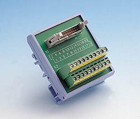 ADAM-3920-AE Bornier ADAM pour carte d'acquisition de données, 20-Pin Flat Câble Terminal, DIN-rail Mount