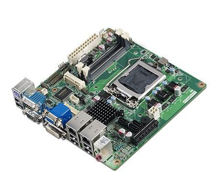 AIMB-281G2-00A2E Carte mère industrielle, SNB H61 MINI ITX w/VGA,LVDS,DVI,2GbE,6COM,A101-3