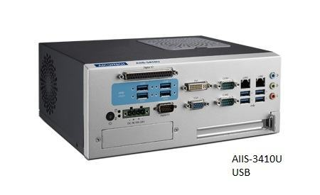 AIIS-3410U-00A1E PC industriel pour application de vision, H110,DDR4, 4+4 USB3.0, 2 LAN, 2 COM,PCIe/PCI ext