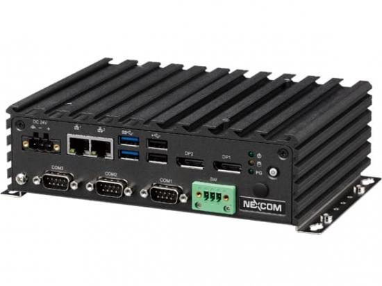 NISE-108 PC Fanless connectique face avant Celeron J3455E Quad core avec 4xUSB, 2xLAN et 3xCOM