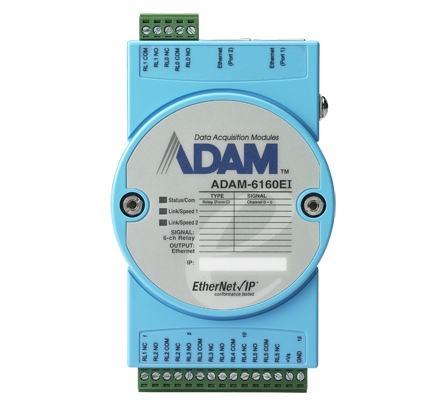 ADAM-6160EI-AE Module ADAM Entrée/Sortie sur bus de terrain, 6-ch Relay EtherNet/Ip