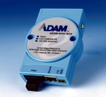 ADAM-6542/W15-AE Convertisseur ADAM, Ethernet to WDM Fiber-Optic Converter /W15