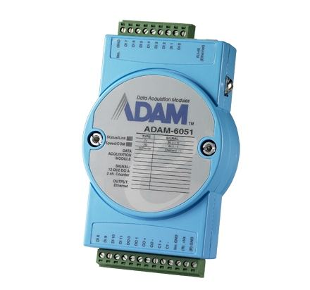 ADAM-6051-CE Module ADAM Entrée/Sortie sur Ethernet Modbus TCP, 16-Ch Isolated DI/O w/Counter Module