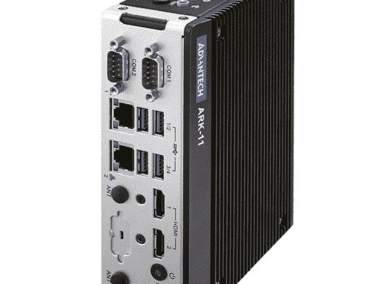 ARK-11-S1A3 PC Fanless pour Intel Celeron N3350 DC avec HDMI 4k et fixations murales