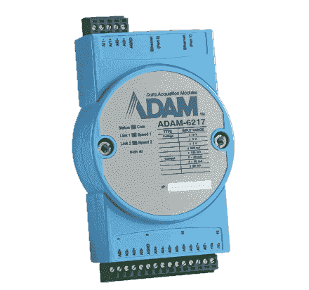 ADAM-6217-AE Module ADAM Entrée/Sortie sur MobusTCP, 8-ch Isolated Analog Input