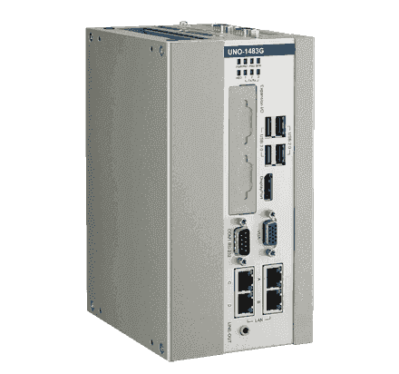 UNO-1483G-434AE PC industriel fanless à processeur Intel Core i3-4010U, 8GB, 4 X Ethernet, 3 X COM, iDoor, PCIe