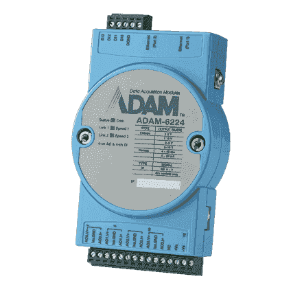 ADAM-6224-AE Module ADAM Entrée/Sortie sur MobusTCP, 4-ch Isolated Analog Output
