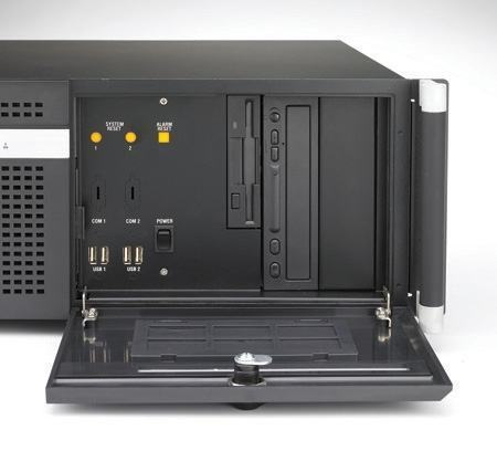 """ACP-4010BP-00BE Châssis silencieux 4U industriel pour PC rack 19"""" PICMG1.0 et 1.3"""