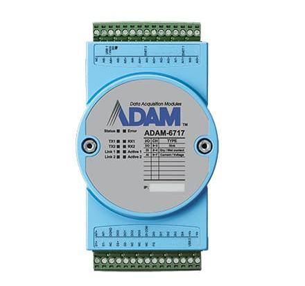 ADAM-6717-A Passerelle IoT intelligente Ethernet avec 8AI/5DI/4DO + 2x RS485