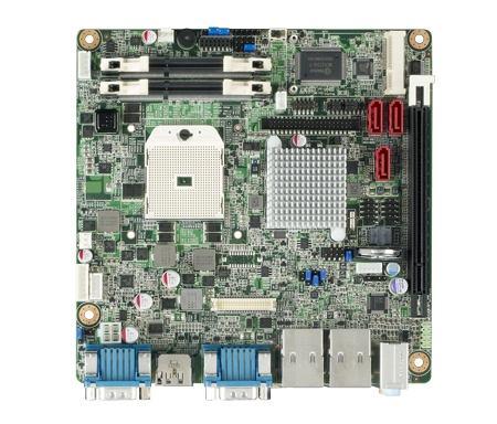 AIMB-224G2-00A1E Carte mère industrielle, miniITX PGA VGA/LVDS/DP/mPCIe/2GbE, RoHS