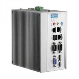 PC industriel fanless à processeur Atom D510 DIN-rail PC avec  3xEthernet,2xCOM,MiniPCIe