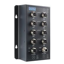 Switch ferroviaire managé EN50155 8 x M12 10/100 MHz, GigaByte, POE 24-48 Vdc ou 72/96/110Vdc