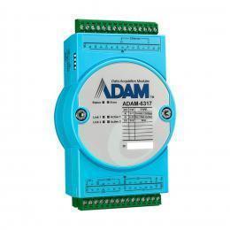 Module ADAM Ethernet compatible OPC-UA avec 8 entrées anaologique, 11 entrées digitales et 10 sorties digitales