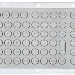 Rear mount stainless steel keyboard with 105 keys