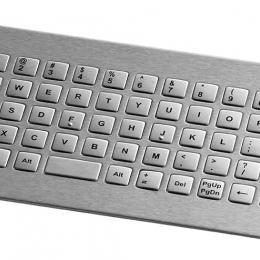Clavier inox 64 touches carrées de 12.5mm montage avant