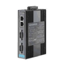 Passerelle industrielle série ethernet, 1-port Modbus Gateway with Wide Temp.