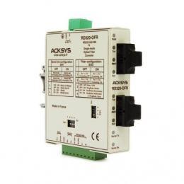Convertisseur de média : RS232/422/485 <-> FO monomode (connectique SC), tolérance de panne, format rail din