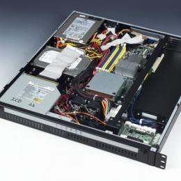"""Châssis 1U pour PC rack 19"""", ACP-1010MB avec carte de contrôle intelligente"""