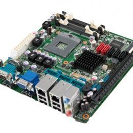 Carte mère Mini-ITX semi-industrielle, HM65 MINI-ITX, VGA/HDMI/LVDS/DP, 4 COM, 2GbE