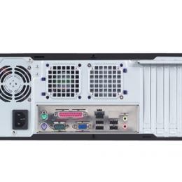 Châssis industriel économique pour carte mère Mini ITX, Wallmount Châssis industriel économique pour carte mère Mini ITX for MicroATX MB, Black outlook