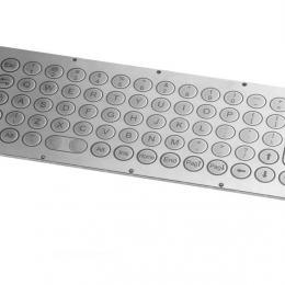 Clavier inox 68 touches format arrondi de diamètre 17mm montage par l'arrière