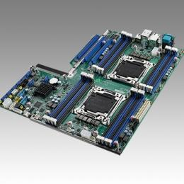 Carte mère industrielle pour serveur, LGA2011-R3 EATX SMB w/8 SATA/3 PCIe x16/2 GbE