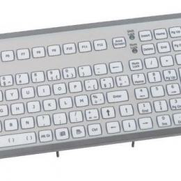 Clavier industriel encastrable 105 touches avec Trackball de 50mm IP67 PS/2 BE