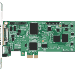Carte industrielle d'acquisition vidéo, 1ch DVI/YPbPr/S-video/composite PCIe-L SW card