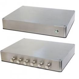 PC Fanless coffret Inox étanche IP65 température étendue E3845 1.91Ghz 24V DC