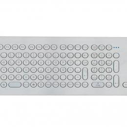 Clavier durci en inox 105 touches montage en panneau