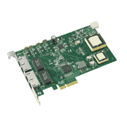 Carte ethernet Gigabit, 4-port PCI express GbE PoE card