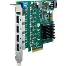 Carte PCIEx4 avec 4 ports USB 3.0 pour l'acquisition de flux video