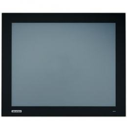 "Ecran industriel 17"" tactile résistif IP66 true flat, VGA + HDMI + DP"